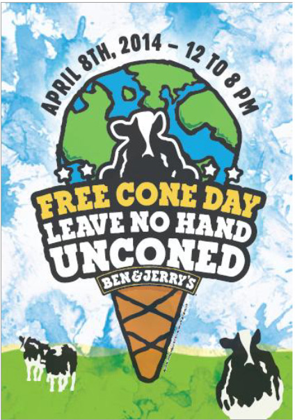 ben and jerry's free cone day 2014