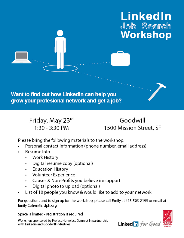 Join us for the LinkedIn Job Search Workshop - Project
