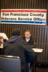 Veteran receiving benefit's counseling at PHC Event